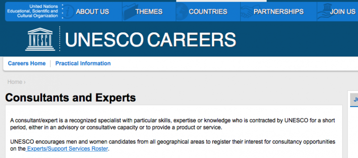 UNESCO ICH Secretariat: looking for consultants