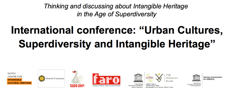 "International conference: ""Urban Cultures, Superdiversity and Intangible Heritage"""