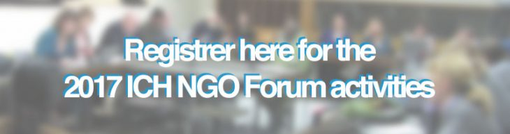 Registration for the 2017 ICH NGO Forum activities during the 12.COM UNESCO