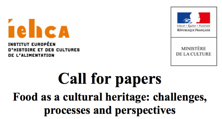 Food as a cultural heritage: challenges, processes and perspectives