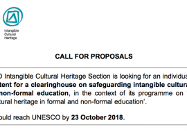 Safeguarding ICH in formal and non-formal education: call for proposals