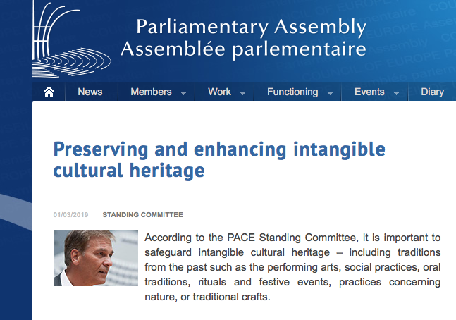 Preserving and enhancing intangible cultural heritage in Europe