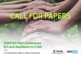 Call for Papers: ICH and Resilience in Crisis