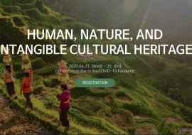 2020 World Forum for Intangible Cultural Heritage: 23 – 25 September