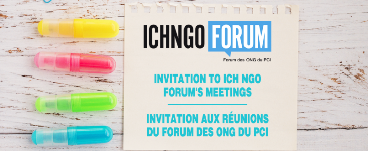 Invitation to ICH NGO Forum's online meetings on 14 e 15 september 2020