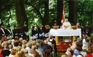 The Sjaasbergergank Open Air Holy Mass Celebration