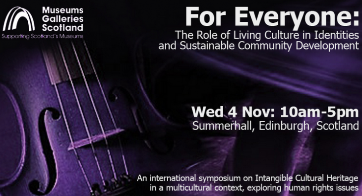 In Edinburgh a Symposium on Intangible Cultural Heritage