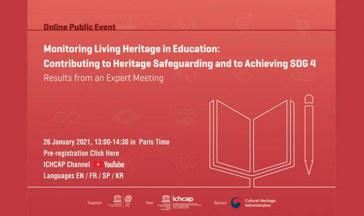 UNESCO Webinar: Monitoring Living Heritage in Education