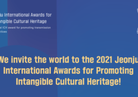 Jeonju International Awards for Promoting ICH – 7th October 2021