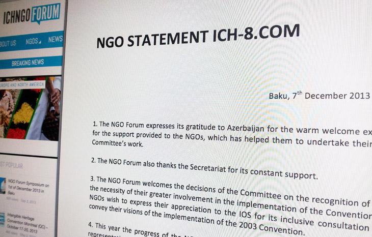 NGO STATEMENT ICH-8.COM